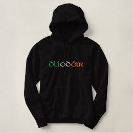 """""""Lawyer"""" Irish Gaelic Flag Colors Embroidered Embroidered Hoodie"""