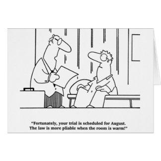 Lawyer Joke August Trial Card