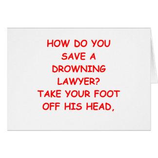 lawyer joke card