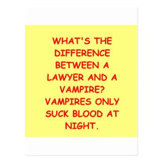 lawyer joke gifts and t-shirts postcard