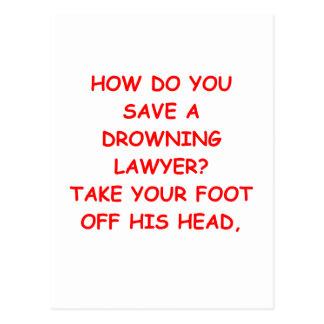 lawyer joke postcard