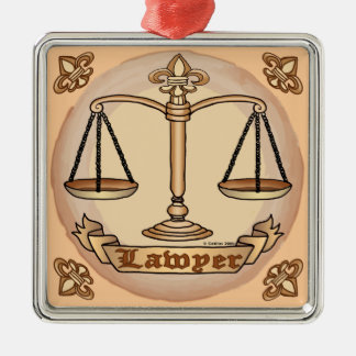Lawyer Justice Scales Ornament