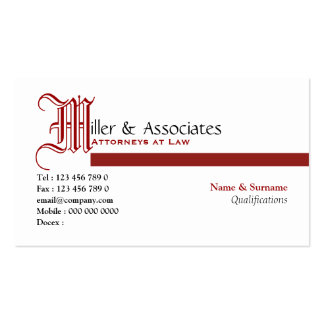 Lawyer law legal attorney firm Double-Sided standard business cards (Pack of 100)
