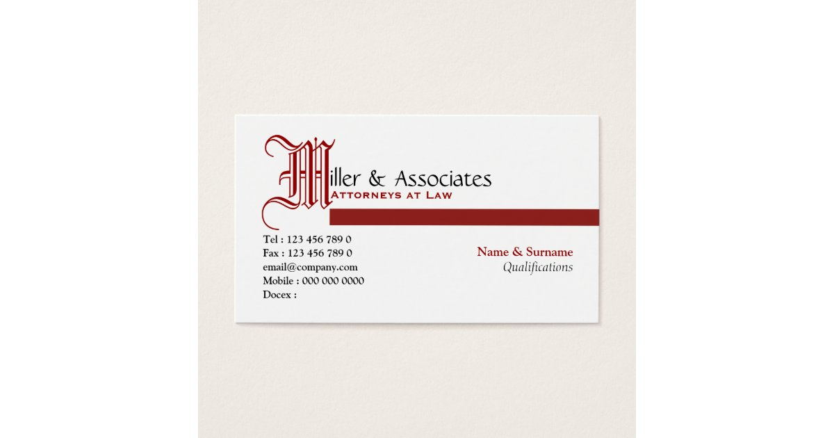 Lawyer law legal attorney firm business card | Zazzle.com