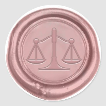 Lawyer Law Office Rose Gold Wax Seal