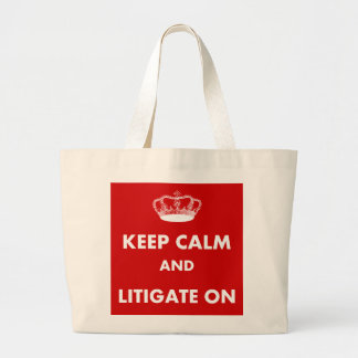 Lawyer Law Student Gifts Keep Calm Litigate Tote Bags