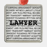 Lawyer Legal Terminology Christmas Ornament