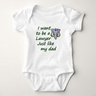 Lawyer like dad baby bodysuit