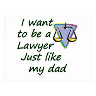 Lawyer like dad postcard