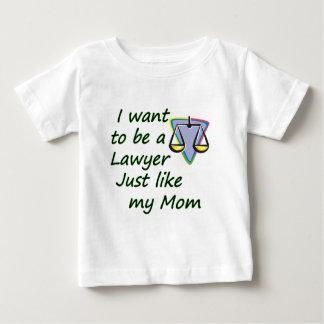 Lawyer like mom baby T-Shirt