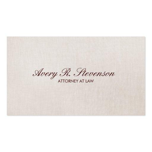 Lawyer Linen Texture Look Business Card