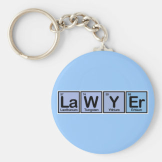 Lawyer made of Elements Basic Round Button Keychain