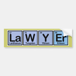 Bumper Sticker with Lawyer design