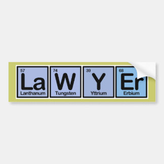 Lawyer made of Elements Car Bumper Sticker