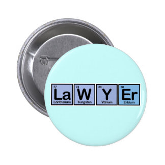 Lawyer made of Elements Pinback Buttons