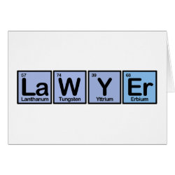 Greeting Card with Lawyer design