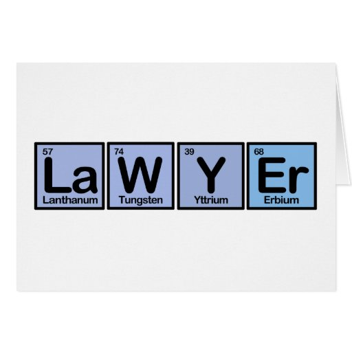 Lawyer made of Elements Cards