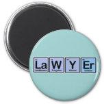 Lawyer made of Elements Fridge Magnet