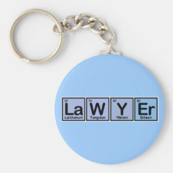 Basic Button Keychain with Lawyer design