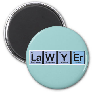 Lawyer made of Elements Fridge Magnet