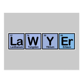 Lawyer made of Elements Postcard