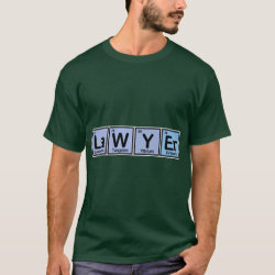 Men's Basic Dark T-Shirt with Lawyer design