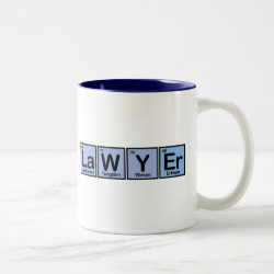 Two-Tone Mug with Lawyer design