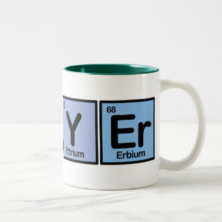 Lawyer made of Elements Two-Tone Coffee Mug