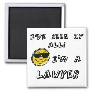 Lawyer 2 Inch Square Magnet