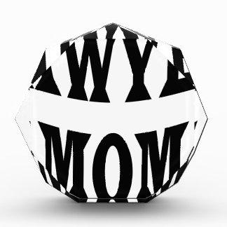 lawyer mom acrylic award