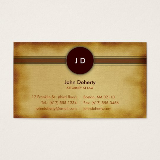 Lawyer Monogram | Attorney at Law Business Card