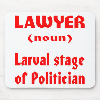 Lawyer (noun) Larval Stage Of Politician Mouse Pad