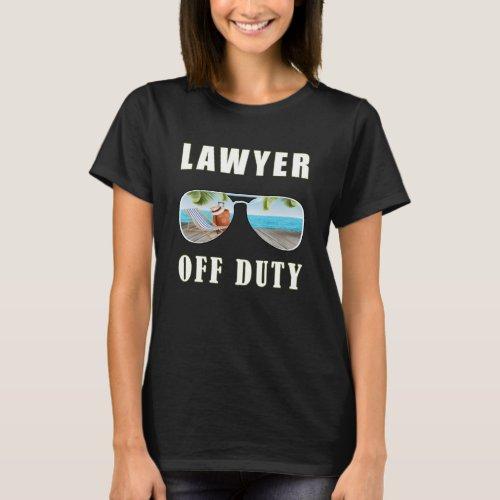 Lawyer off duty sunglasses palm beach vacation T_Shirt