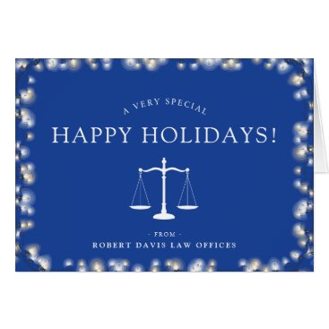 Lawyer Office Custom Happy Holidays Card
