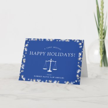 Lawyer Office Custom Happy Holidays Holiday Card