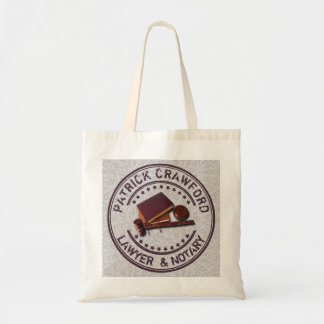 Lawyer Or Notary Office With Judge Hammer And Name Tote Bag