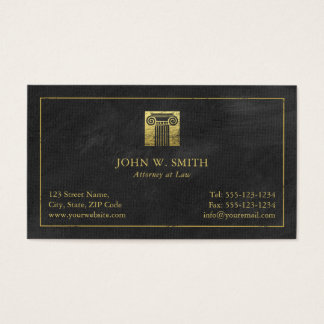 Lawyer Pillar of Justice Gold (effect) Attorney Business Card