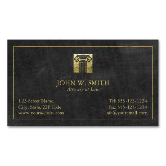 Lawyer Pillar of Justice Gold (effect) Attorney Business Card Magnet