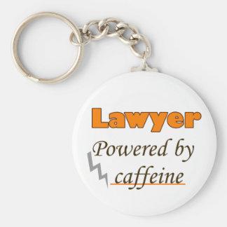 Lawyer Powered by caffeine Keychain