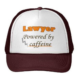 Lawyer Powered by caffeine Trucker Hat