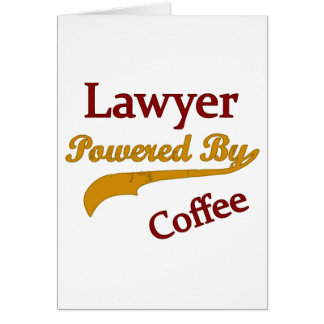 Lawyer Powered  By Coffee Greeting Card