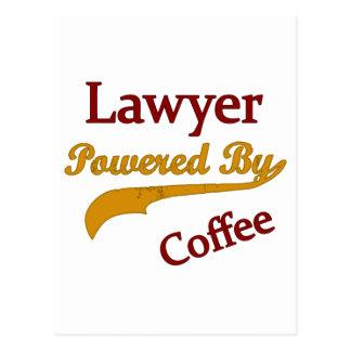 Lawyer Powered  By Coffee Postcard