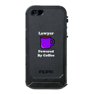 """Lawyer"" Powered by Coffee Waterproof Case For iPhone SE/5/5s"