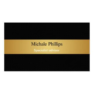 Lawyer - Professional black carbon fiber gold Business Card