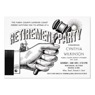 Lawyer Retirement Invitation - Party Vintage Retro