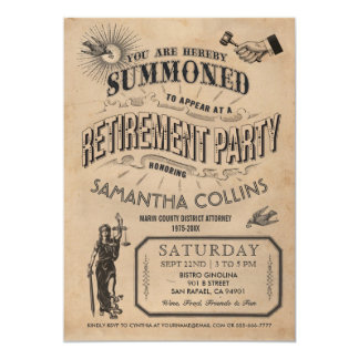 Lawyer Retirement Invitation - Party Vintage Retro