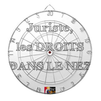 Lawyer, RIGHTS IN the NOSE - Word games Dartboard With Darts