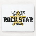 Lawyer Rock Star by Night Mouse Pad
