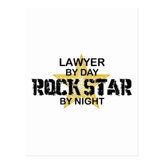 Lawyer Rock Star by Night Postcard