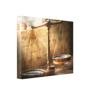 Lawyer - Scale - Balanced law Canvas Print